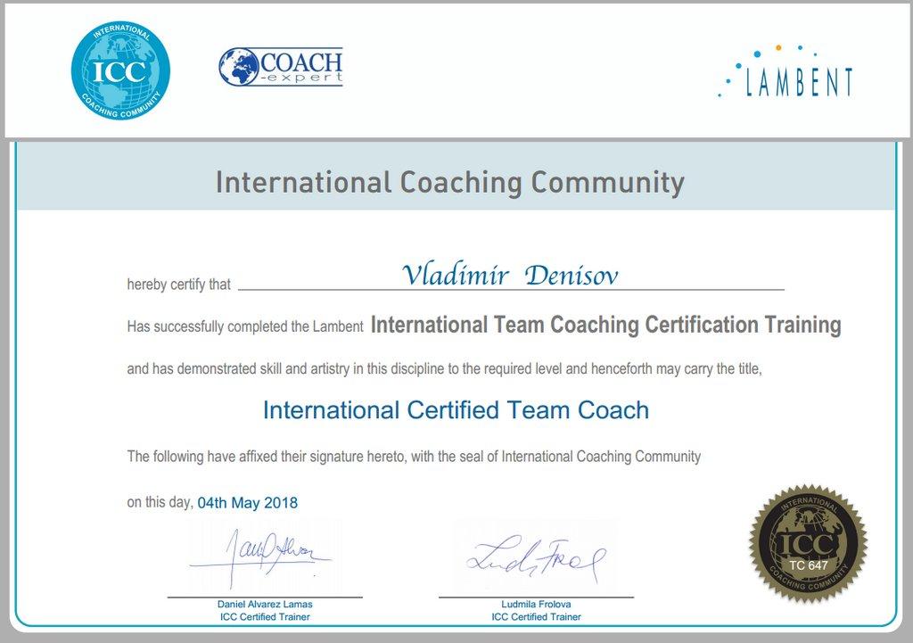 Коучинг Команд высоких достижений (Team) ICC